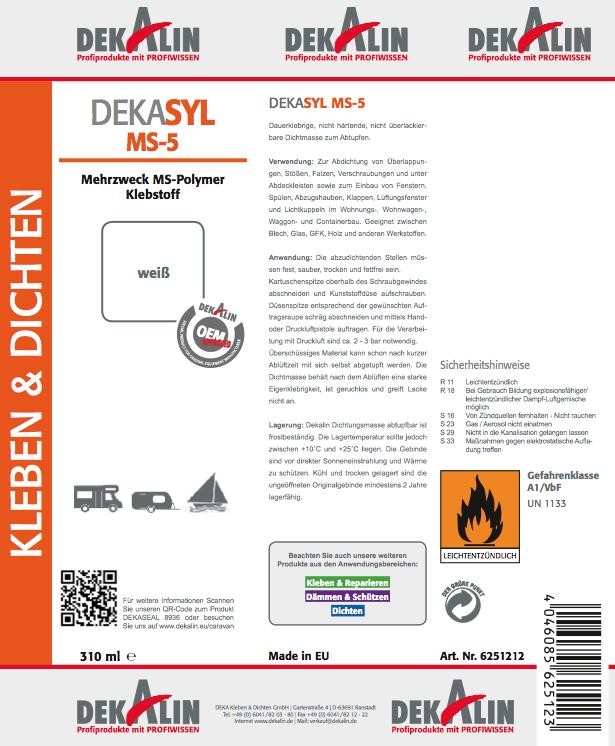 DEKA Kleben & Dichten möchte es von Ihnen wissen: wie wichtig ist die Etikettierung unserer DEKALIN-Produkte?